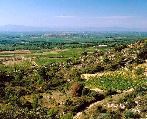Valley of the River Aude from above Cesseras   Aude France   Minervois