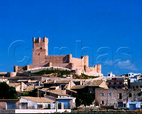 The Moorish castle above the town of Villena   Alicante Province Spain