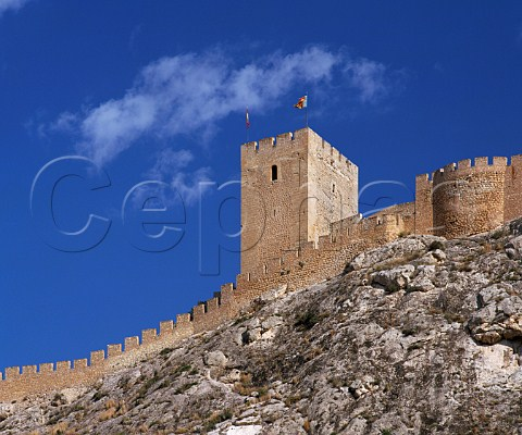 The castle above the town of Sax   Alicante Province Spain