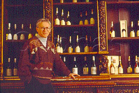 Andrs Bacso manager in the tasting   room of Oremus at Tolcsva Hungary